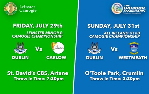LEINSTER AND ALL IRELAND CAMOGIE VENUES AND TIMES CONFIRMED