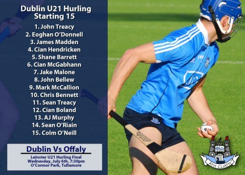 DUBLIN U21 TEAM NAMED FOR LEINSTER FINAL