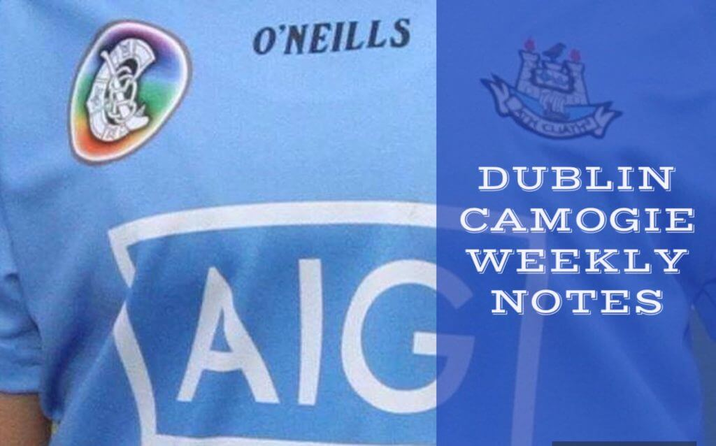 DUBLIN CAMOGIE WEEKLY NOTES