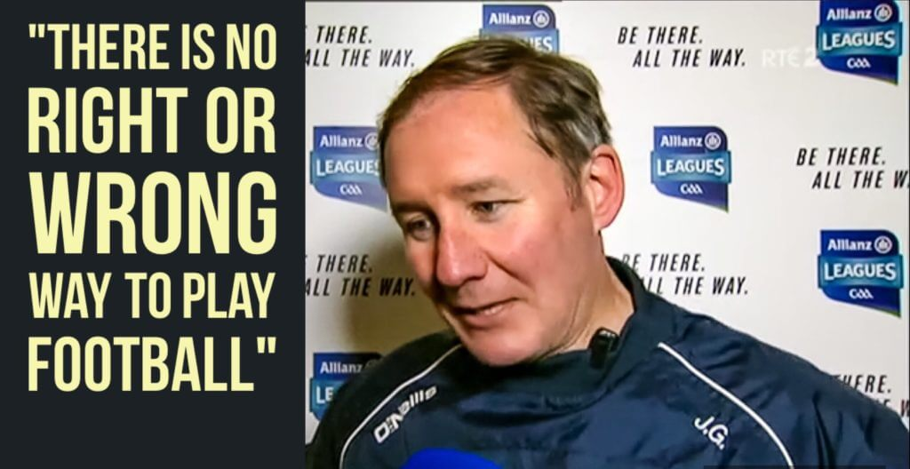 JIM GAVIN SAYS THERE IS NO RIGHT OR WRONG WAY TO PLAY THE GAME