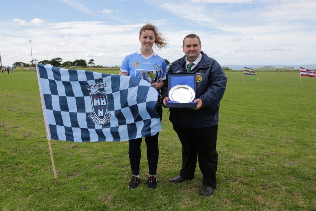 ST JUDES FAYE McCARTHY IS CROWNED THE LEINSTER POC FADA CHAMPION.