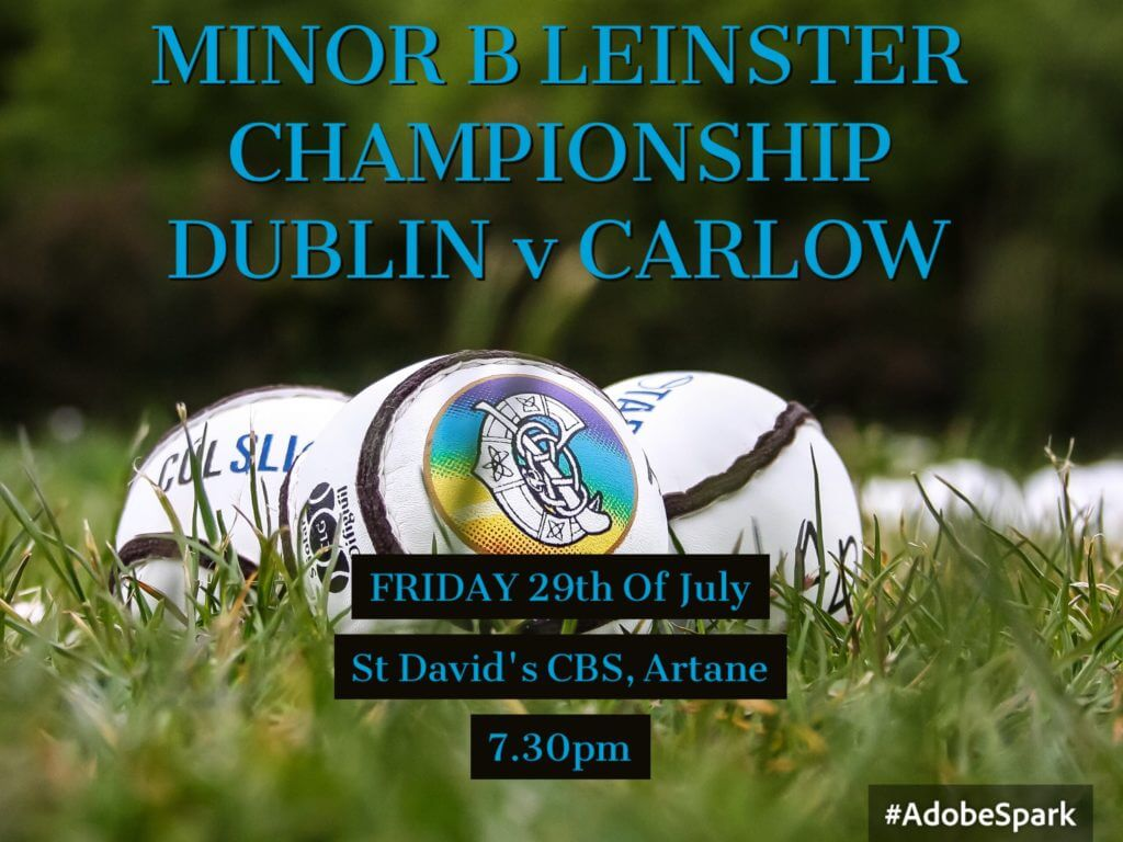 DUBLIN MINOR B CAMOGIE SQUAD NAMED FOR OPENING LEINSTER CLASH WITH CARLOW