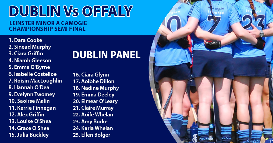 DUBLIN MINOR A CAMOGIE PANEL ANNOUNCED FOR LEINSTER SEMI FINAL