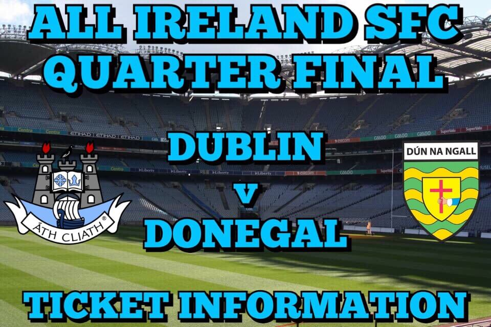ALL IRELAND SFC QUARTER FINAL TICKET UPDATE