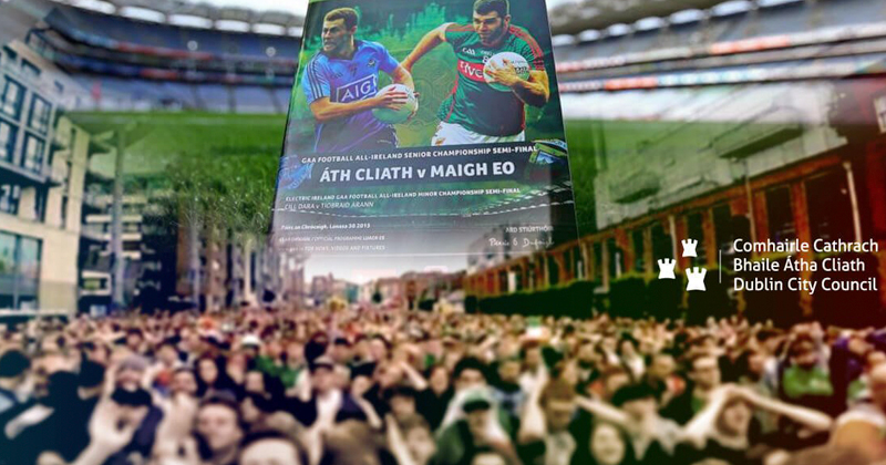 ALL IRELAND FOOTBALL FINAL OUTDOOR SCREENING – SMITHFIELD SQUARE