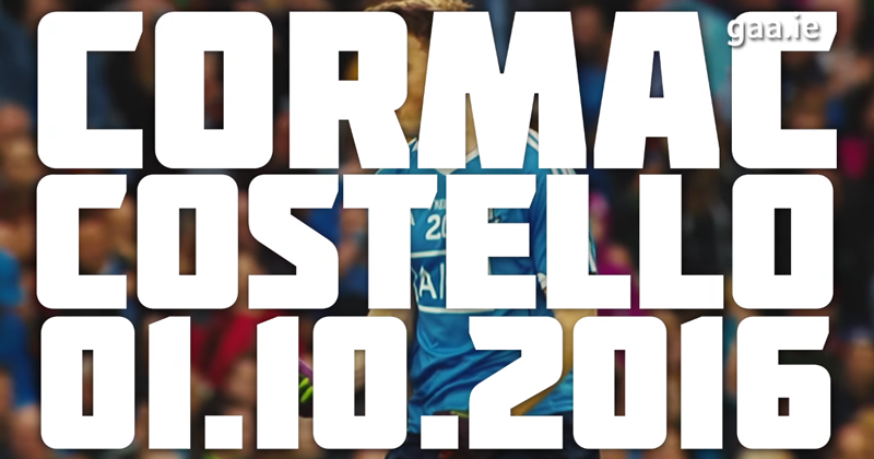 VIDEO: GAA GREAT PLAYS – COSTELLO IMPACTS ALL IRELAND REPLAY