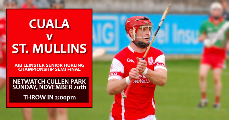 CUALA WILL LOOK TO SHAKE OFF THE MEMORY OF THEIR LAST TRIP TO NETWATCH CULLEN PARK THIS SUNDAY