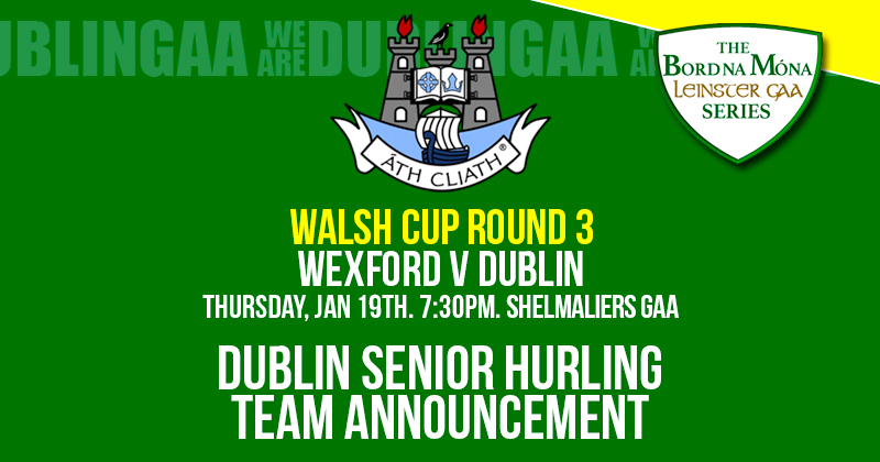 SEVEN CHANGES TO SENIOR HURLING STARTING LINE FOR WALSH CUP ROUND 3