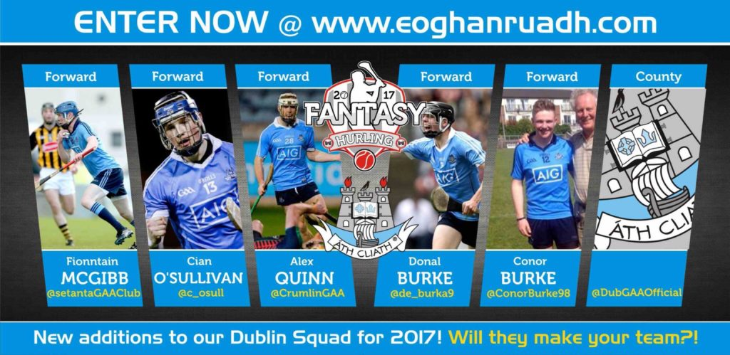 FANTASY HURLING 2017: OVER 1500 EURO IN PRIZES TO BE WON