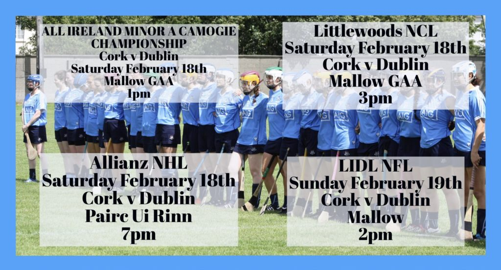 DUBLIN AND CORK TO MEET FOUR TIMES THIS WEEKEND