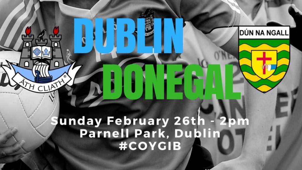 DUBLIN LOOK TO GET BACK TO WINNING WAYS THIS SUNDAY AGAINST DONEGAL