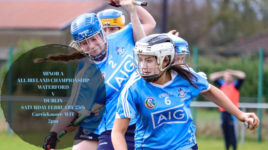 TEAM ANNOUNCEMENT: DUBLIN MINOR CAMOGIE TEAM TO PLAY WATERFORD