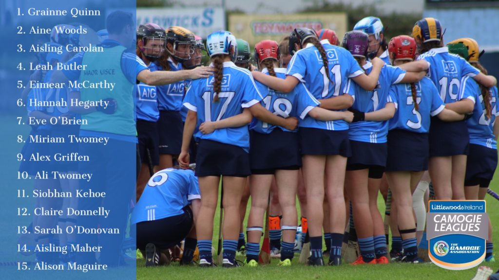 DUBLIN SENIOR CAMOGIE TEAM NAMED FOR LEAGUE CLASH WITH KILKENNY