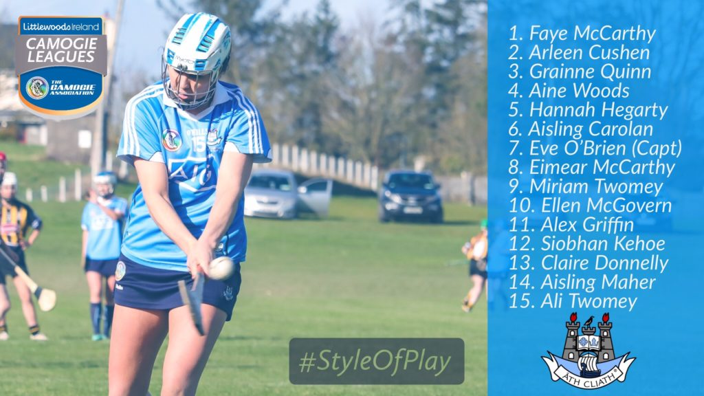 DUBLIN SENIOR CAMOGIE TEAM TO FACE TIPPERARY IS NAMED