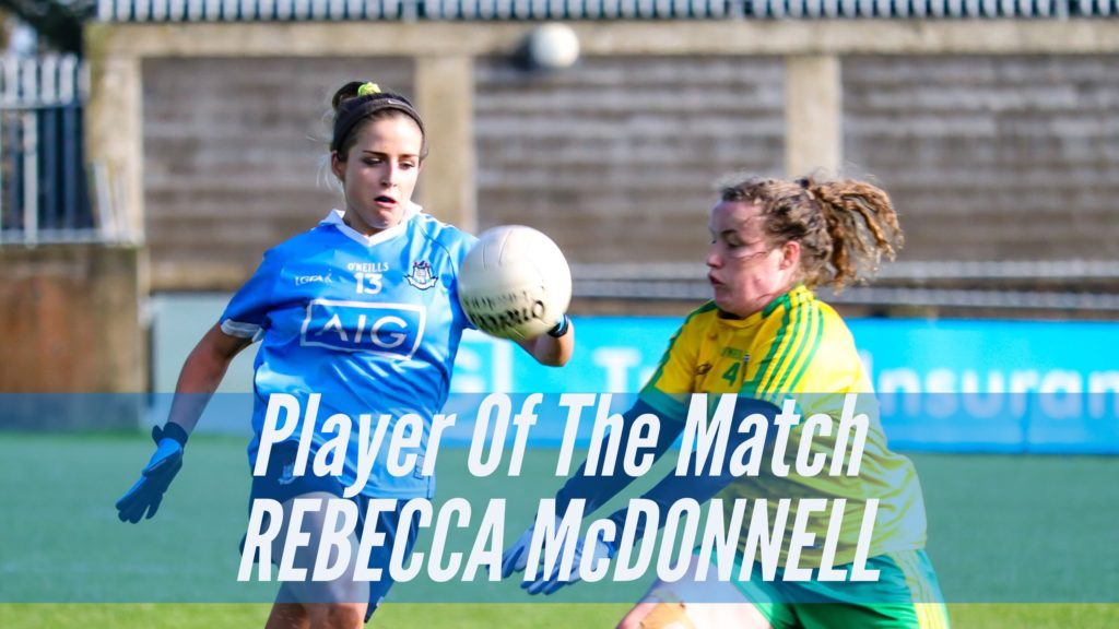 REBECCA MCDONNELL WINS PLAYER OF THE MATCH AWARD