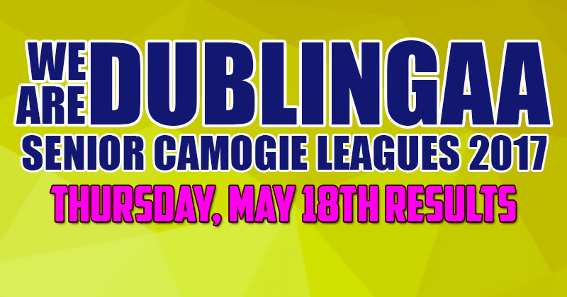 WE ARE DUBLIN GAA SENIOR CAMOGIE LEAGUES – THURSDAY RESULTS
