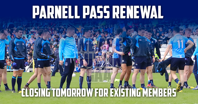 PARNELL PASS RENEWAL UPDATE: CLOSING TOMORROW FOR EXISTING MEMBERS