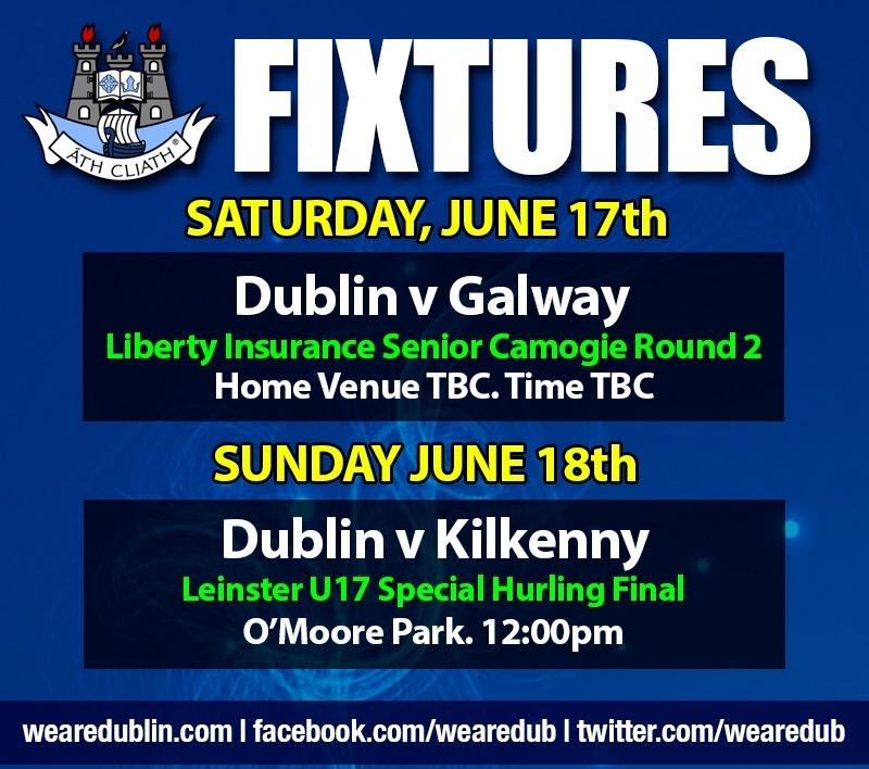 Weekly fixtures June 17th