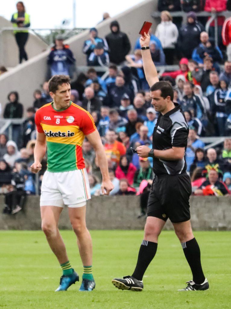 Carlow's Brendan Murphy Shown Red Card