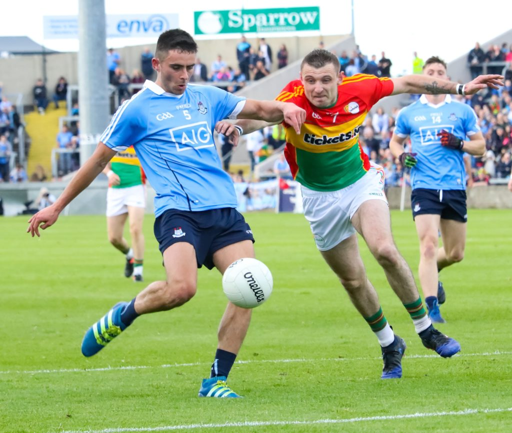 Dublin's Niall Scully In Action Against Carlow