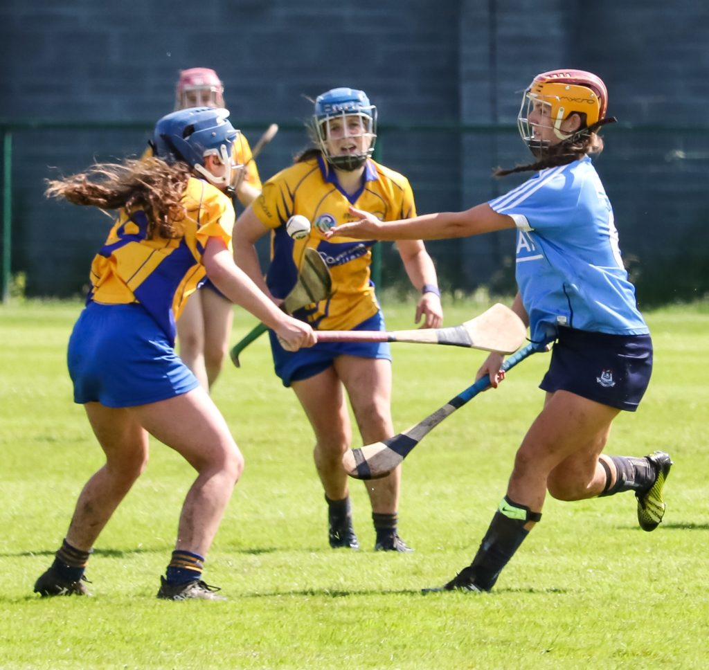 Dublin Defender Aisling Carolan Clears Her Lines Against Clare