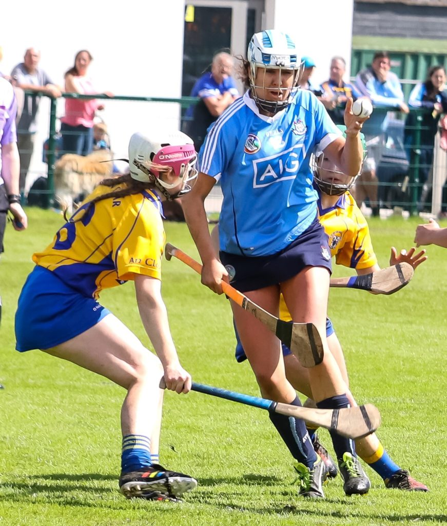 Dublin's Alison Maguire Passes The Ball In The Build Up To Dublin's Third Goal