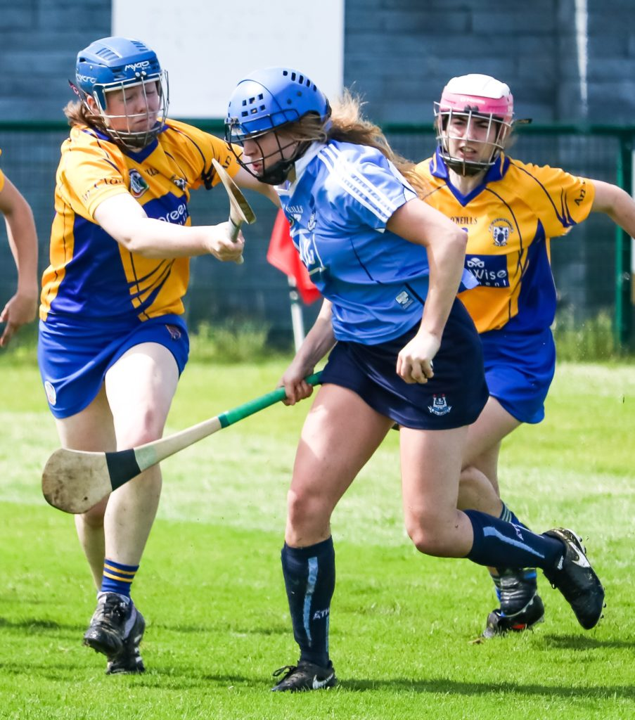 Dublin Forward Aisling Maher Breaks Free From Two Clare Defenders