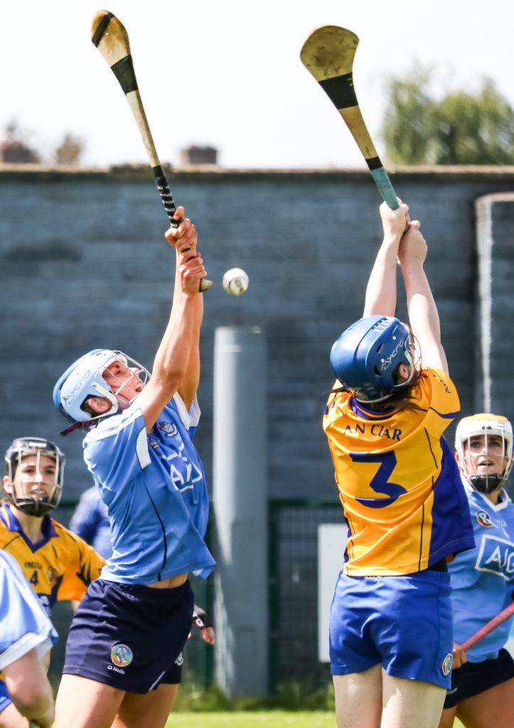 Dublin's Hannah Hegarty Challenges For A High Ball