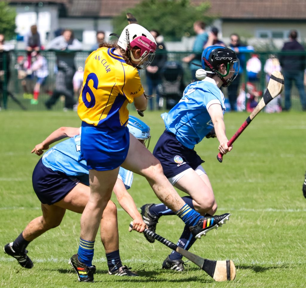 Dublin Players Block Down Attempted Clearance By Clare