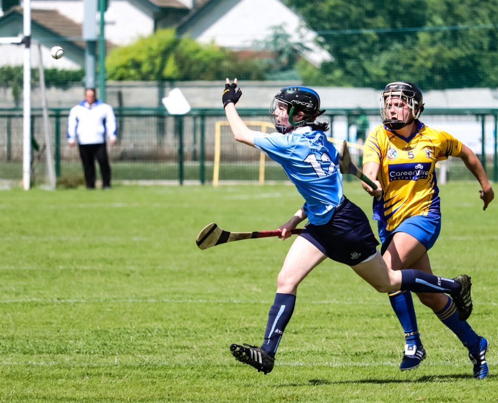 Siobhan Kehoe Hand Passes The Ball To A Forward Colleague