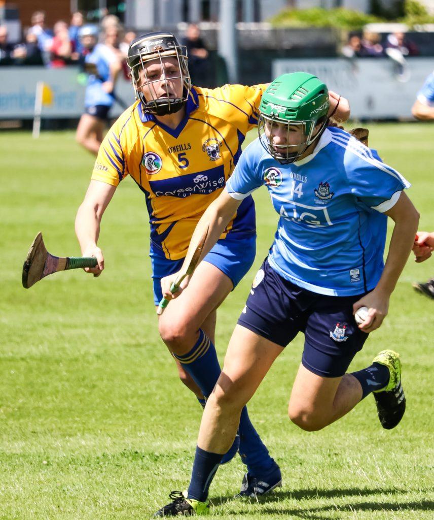 Dublin's Emma Flanagan Attacks The Clare Defence