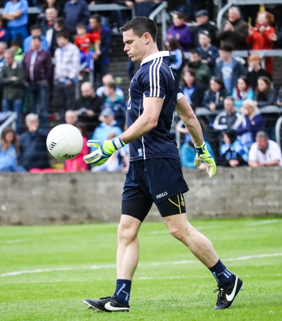 Dublin Goalkeeper Stephen Cluxton Warming Up Before The Leinster SFC quarter Final