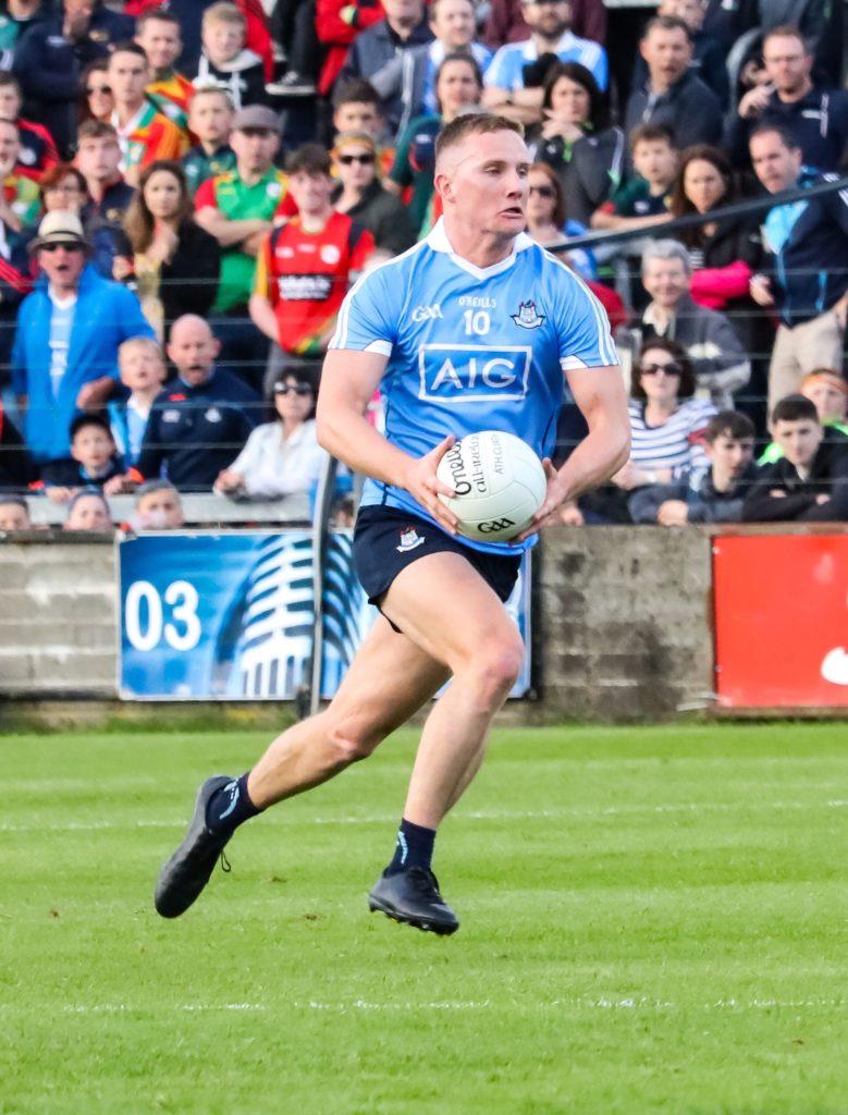 Dublin's Ciaran Kilkenny on the attack against Carlow