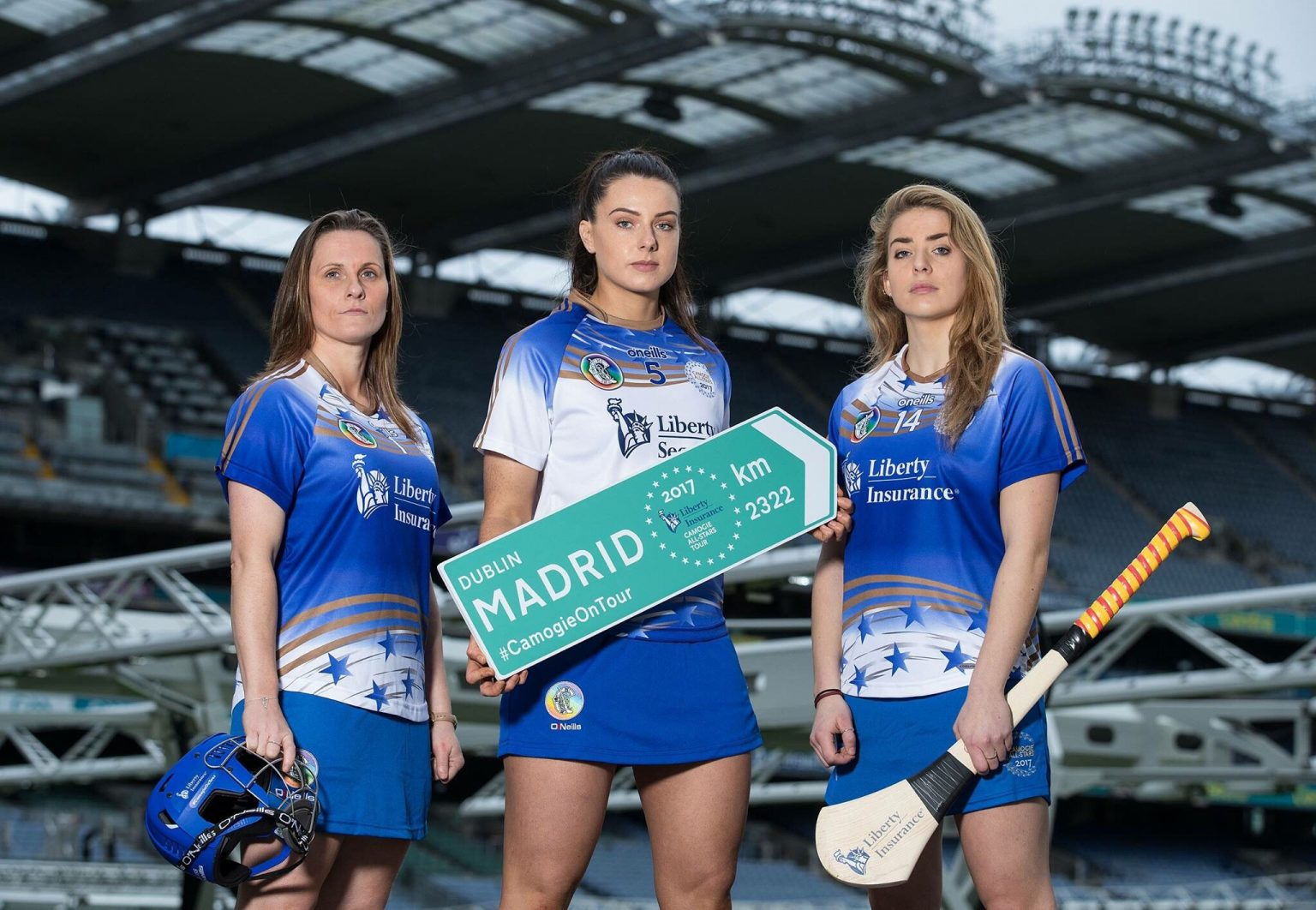 Members of 2017 Camogie All Stars Team Pictured In Croke Park