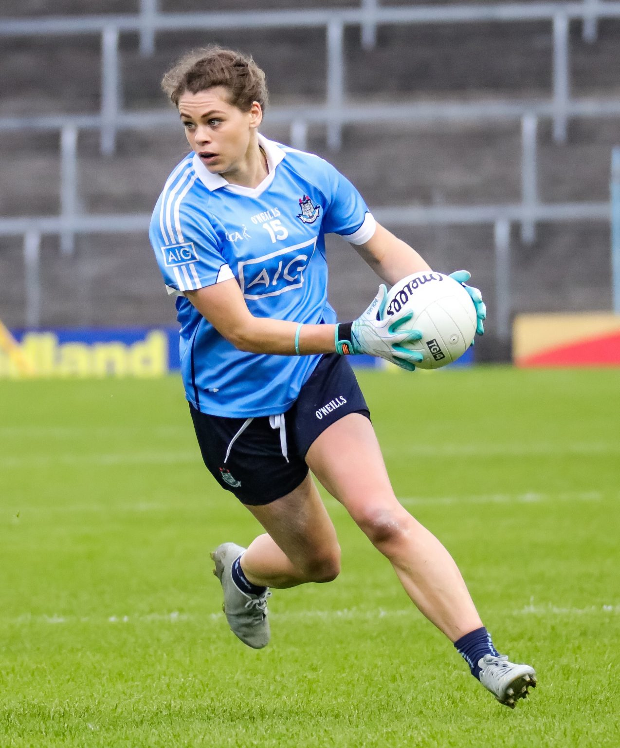 Image Of Dublin's Noelle Healy In Action Against Kerry In a The TG4 All Ireland Semi Final