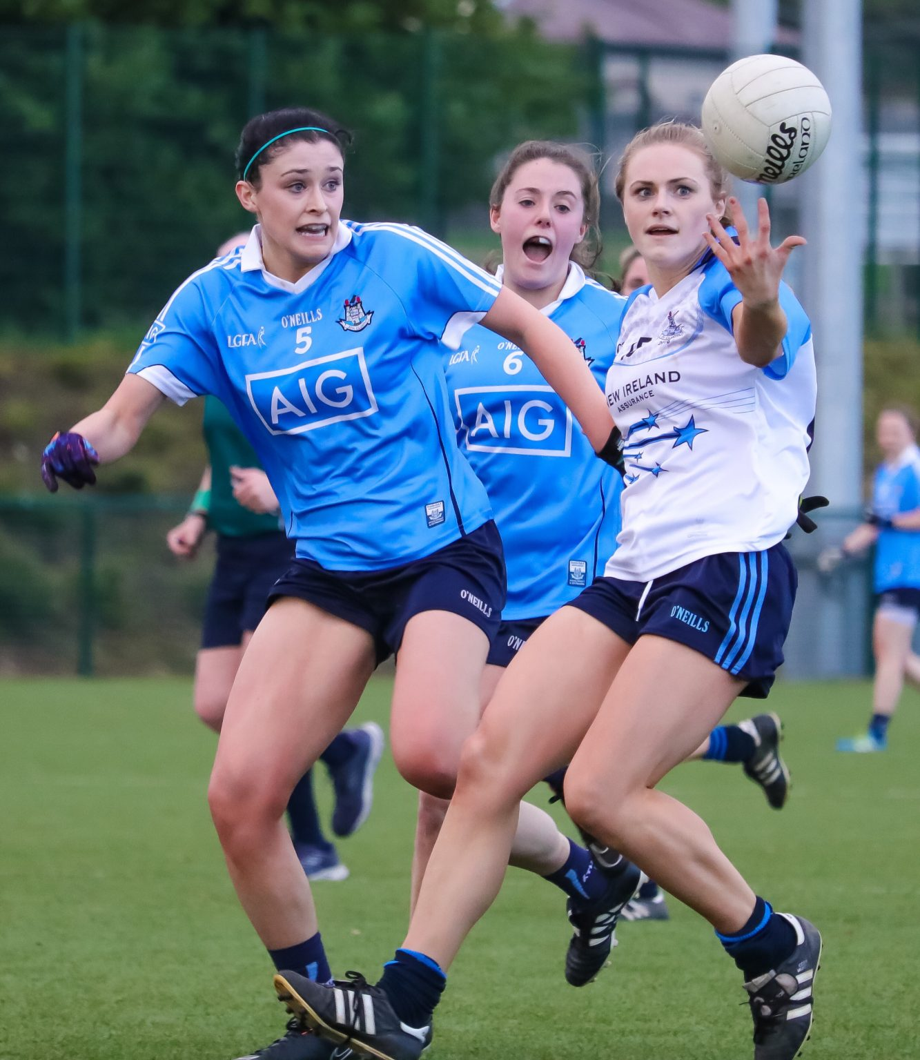 Dublin's Olwen Carey Puts In A Tackle In The 2016 Ladies Football Dubs Stars Game (Image Credit: We Are Dublin GAA)