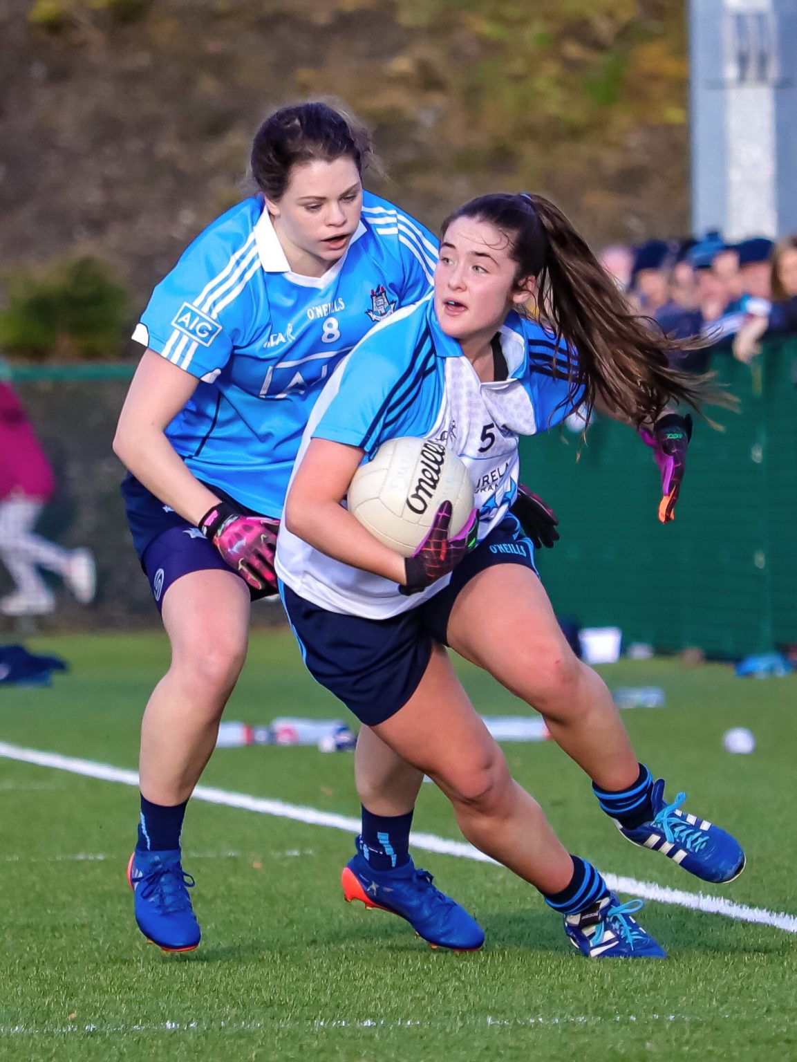Action shot From The 2016 Ladies Football Dubs Stars Game