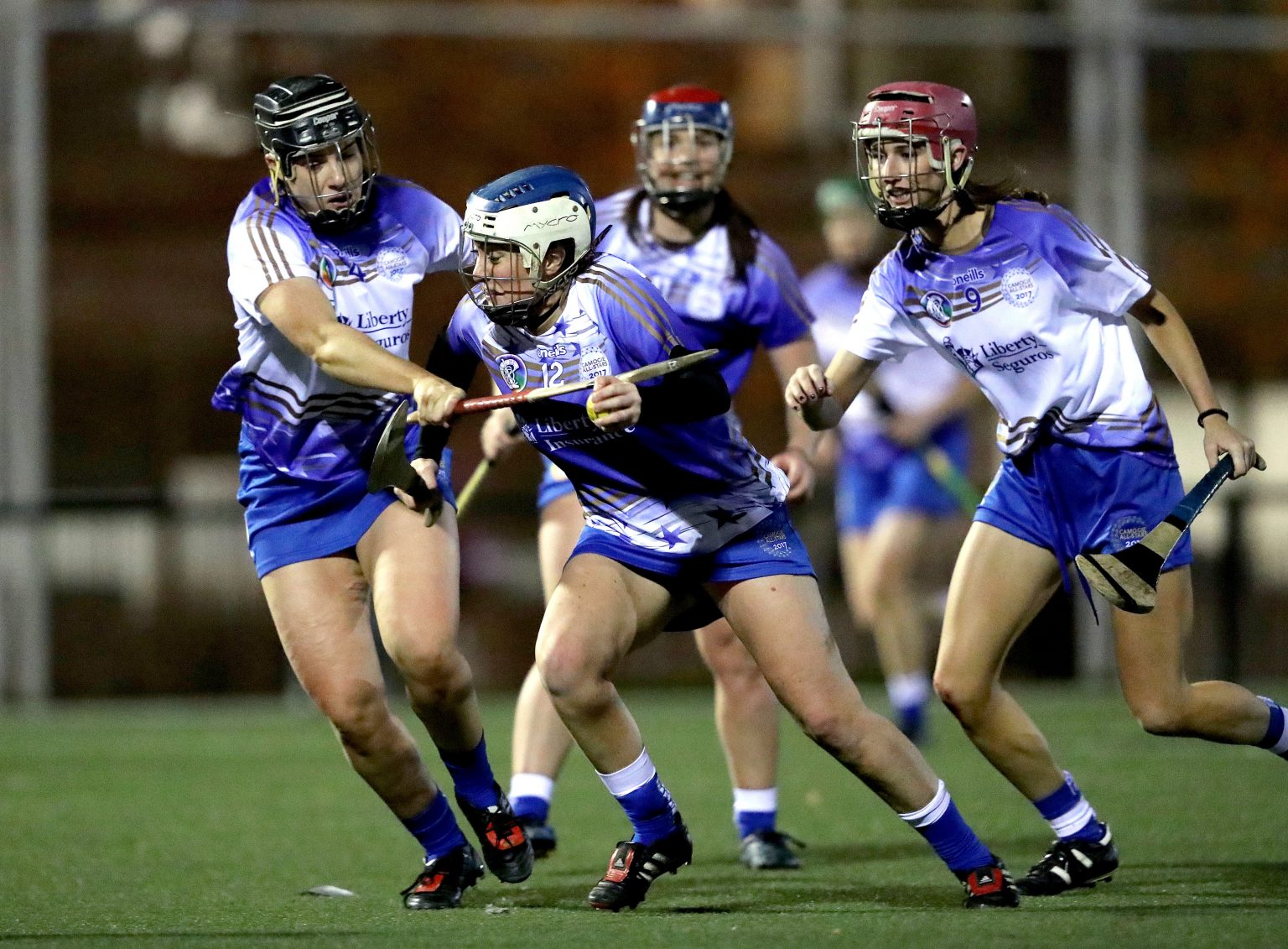 Action shot from the 2017 Inaugural Camogie All Stars Game In Madrid