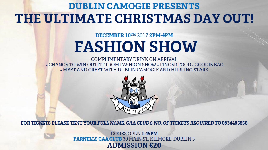 ONLY FOUR DAYS TO GO TO THE DUBLIN CAMOGIE ULTIMATE CHRISTMAS DAY OUT