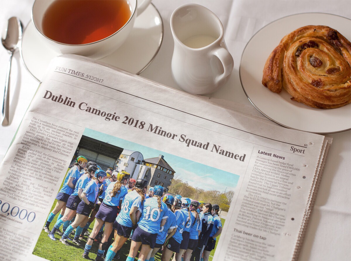 DUBLIN CAMOGIE 2018 MINOR SQUAD IS ANNOUNCED