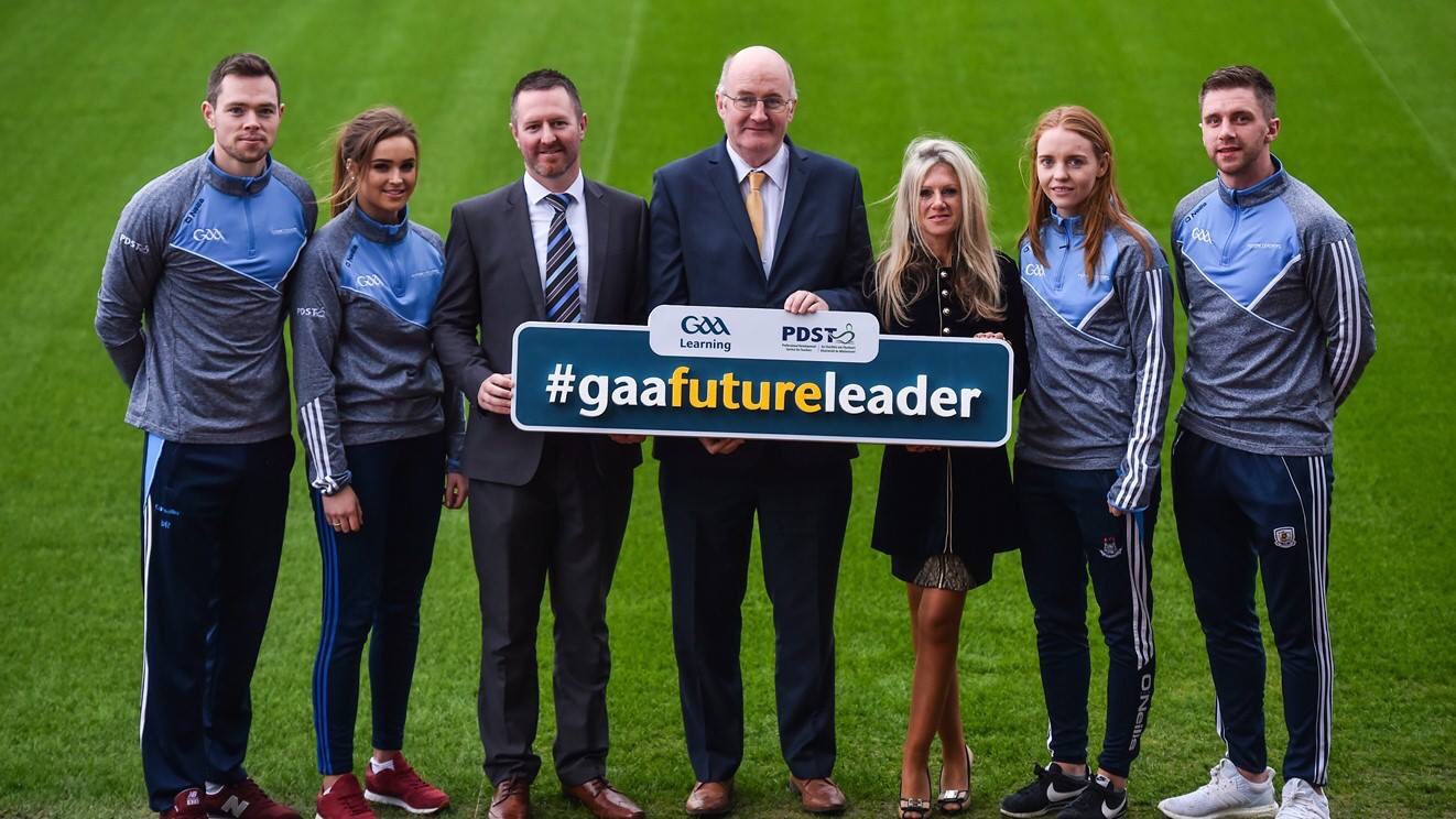 Dublin Football Stars Dean Rock and Ciara Trant Pictured At The Launch Of The Future Leaders Programme In Croke Park