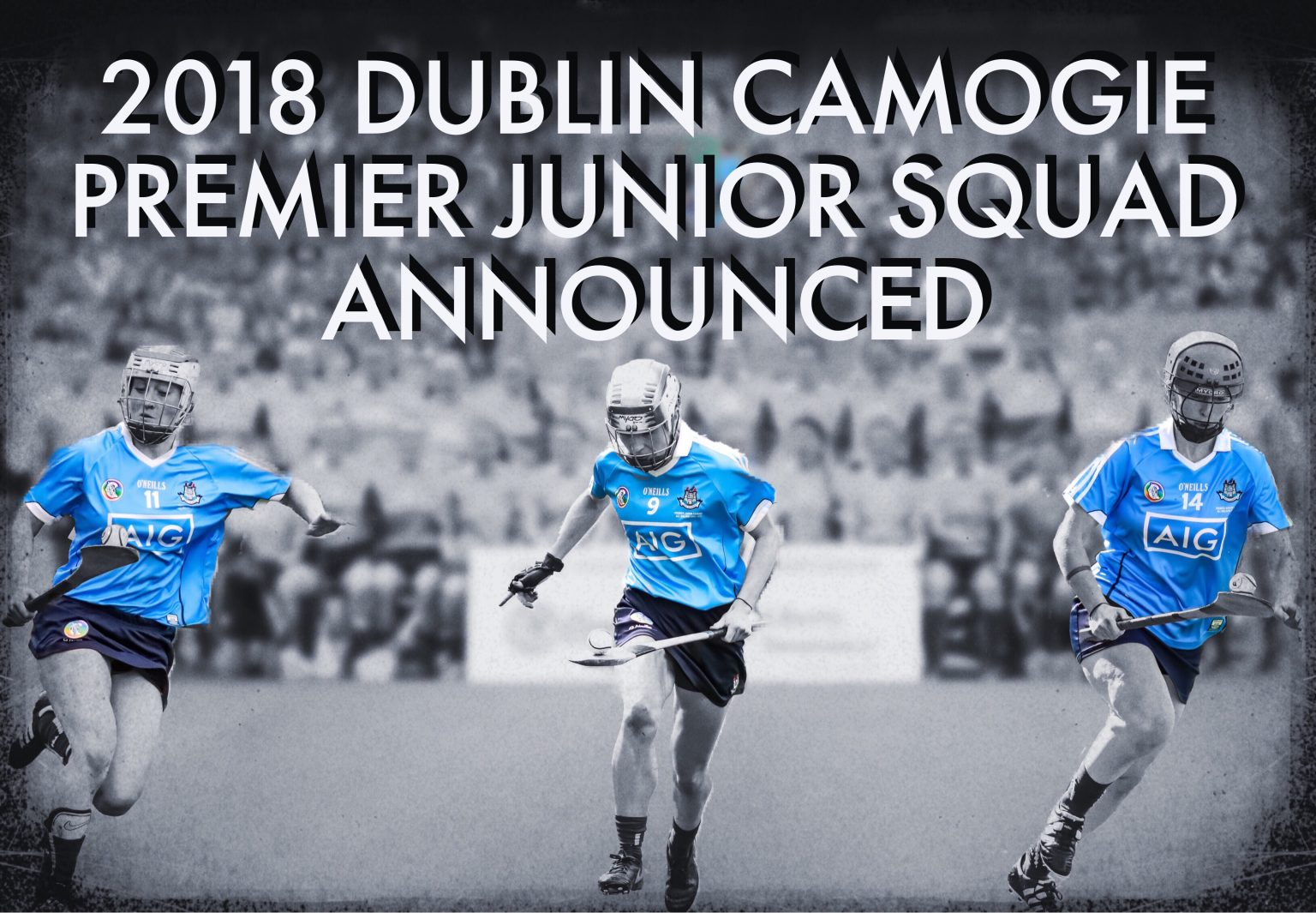 Image of Three Of The Dublin Premier Junior Camogie Team In Action During The 2017 All Ireland Final