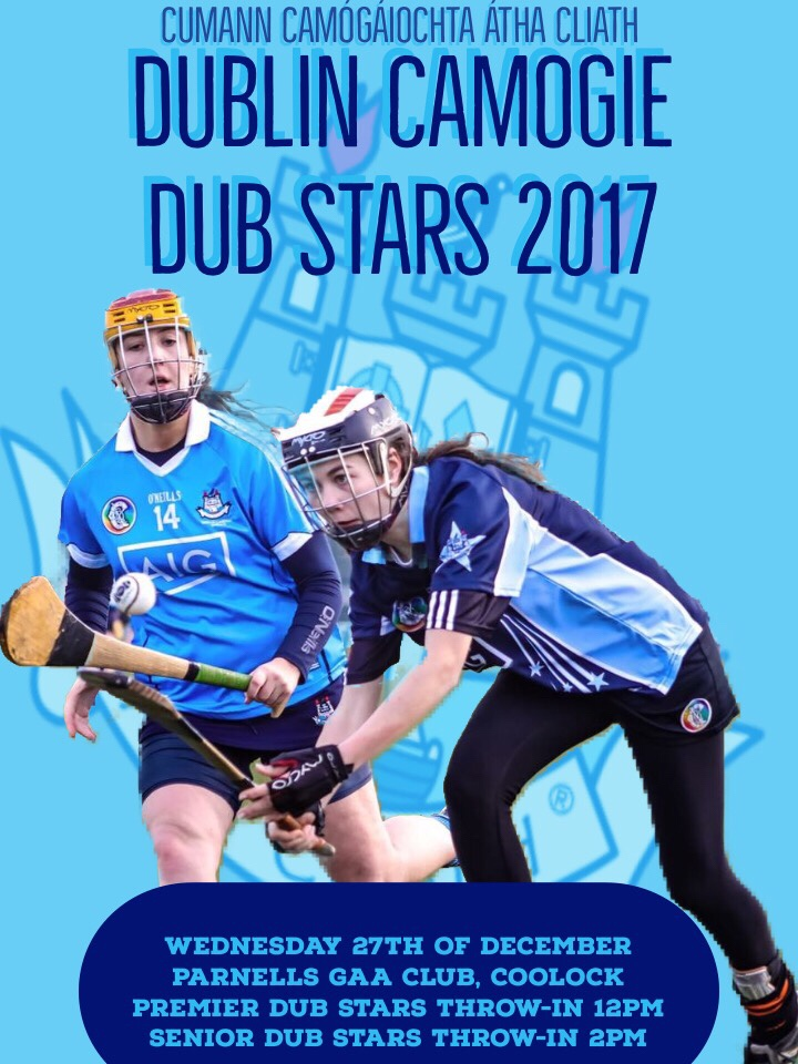 Promotional poster for the Dublin Camogie 2017 Premier Dub Stars game