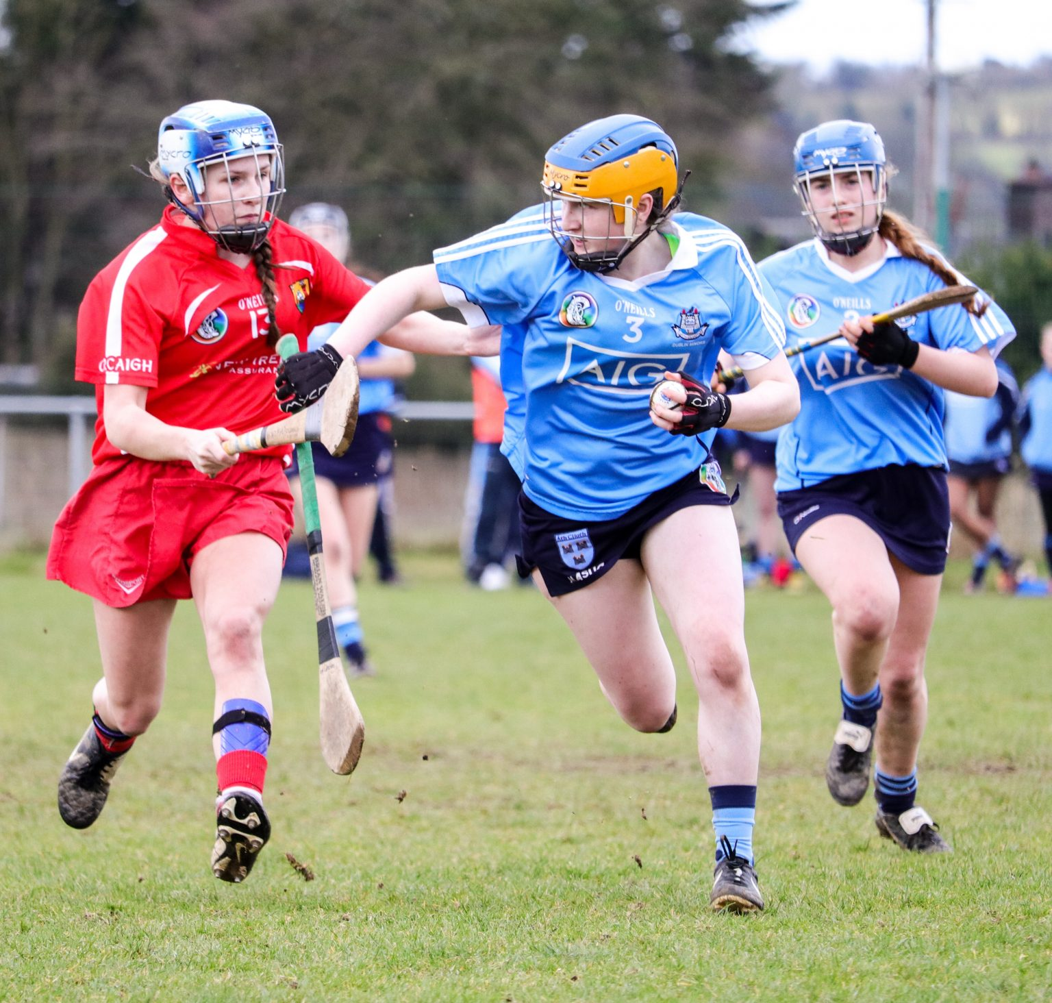 Action shot from the 2017 Minor Camogie Championship meeting between Dublin and Cork