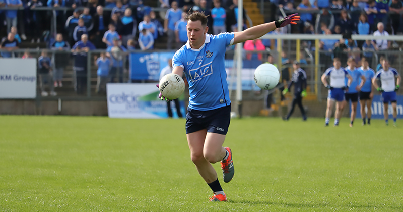 Philly McMahon in action against Monaghan, staying at home this Christmas