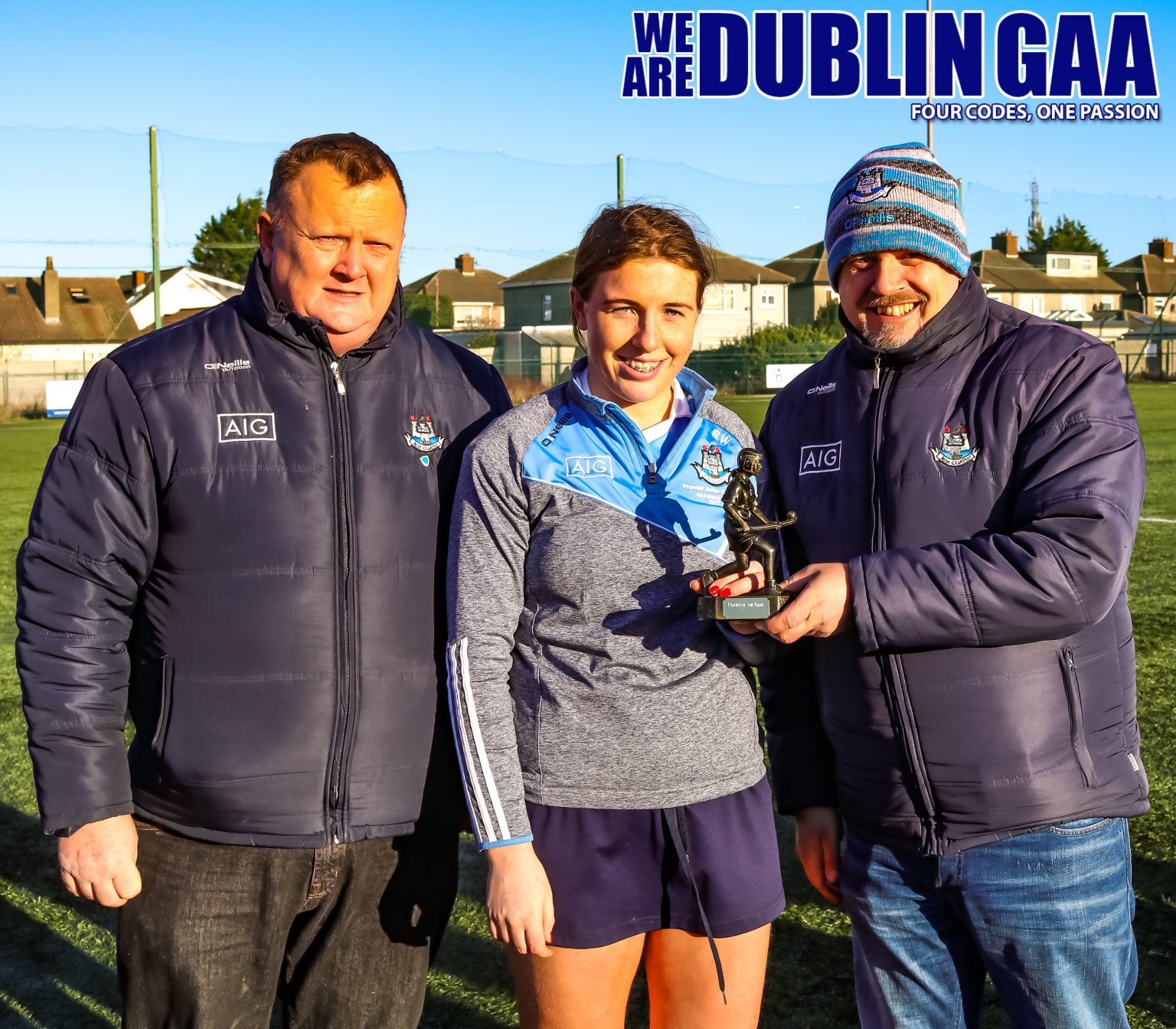 Dublin Premier Junior Player Sinead Wylde Being Presented With Her Player Of The Match Award