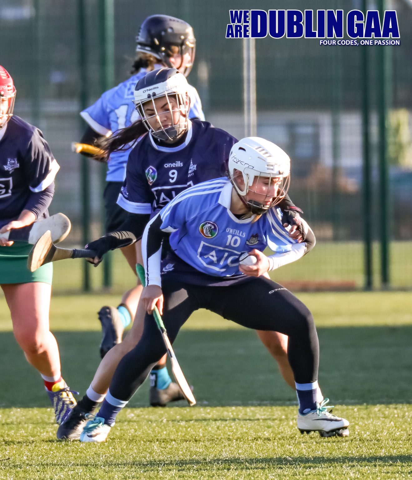 Dublin Premier Junior Captain Sinead Nolan Breaks Free From The Tackle Of Celine Atancio Of The Dubs Stars