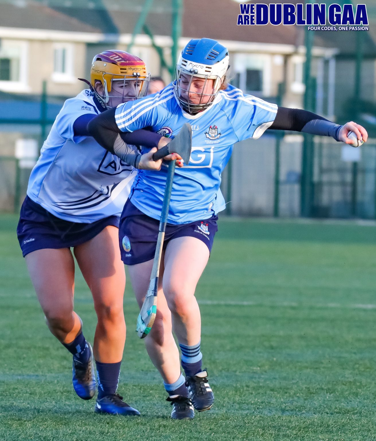 Dublin's Róisín Baker Being Tackled By Aishling Carolan From The Dubs Stars
