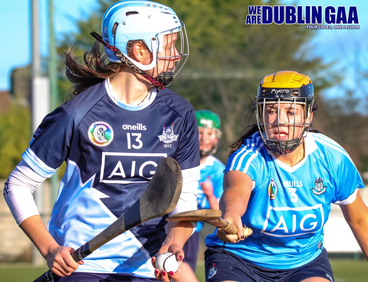 Hannah O'Dea From The Dubs Stars Being Tackled By Dublin's Laura Walsh