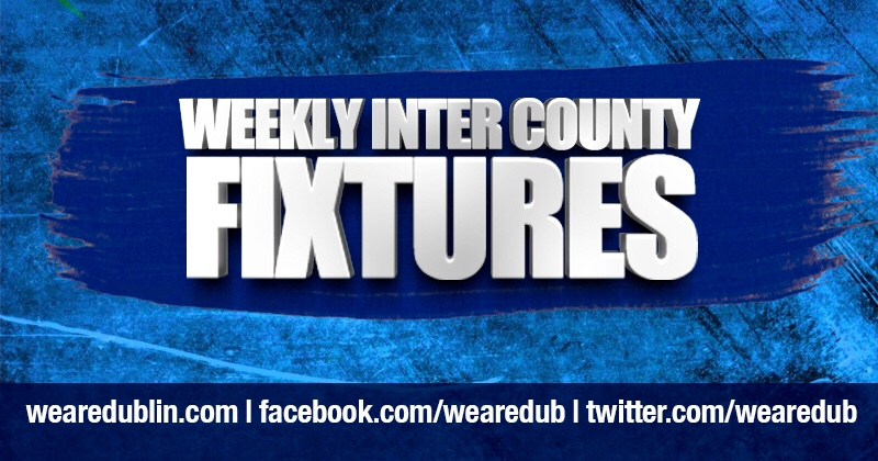 Dublin GAA Weekly Inter County Fixtures – Week Ending April 22nd